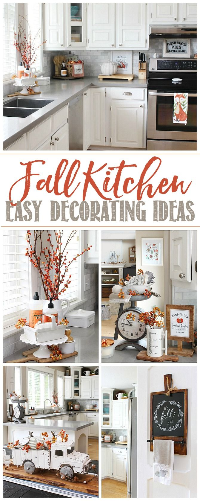 Fall Kitchen Decor   Clean and Scentsible   Fall kitchen decor ...