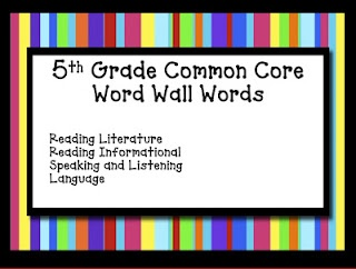 5Th Grade Common Core Word WallGrade Ideas, Grade Common, Grade Reading, Words Wall, Teaching Ideas, 5Th Grade, Word Walls, Cores Words, Common Cores