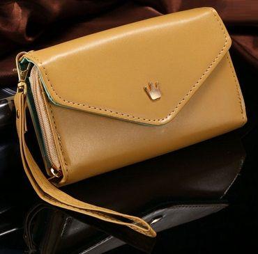 Θήκη Τσαντάκι Handbag Crown Case OEM Καφέ (iPhone 4/5, Galaxy S3/S4, Note 2/3, HTC One/M8) - myThiki.gr - Θήκες Κινητών-Αξεσουάρ για Smartphones και Tablets - Χρώμα Καφέ