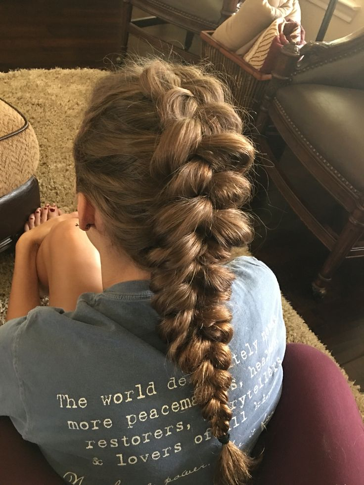 Pancaked dutch braid