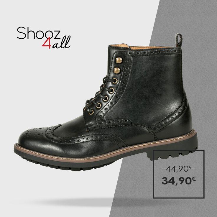 Μοντέρνα και εντυπωσιακά ανδρικά μποτάκια σε μαύρο χρώμα. Από άριστης ποιότητας συνθετικό δέρμα, με σόλα από εύκαμπτο και αντιολισθητικό υλικό, ανδρικά παπούτσια που θα κλέψουν την παράσταση σε κάθε σας εμφάνιση. http://www.shooz4all.com/el/andrika-papoutsia/oxford-andrika-mpotakia-q55-7f9-65e-detail #shooz4all #andrika #mpotakia