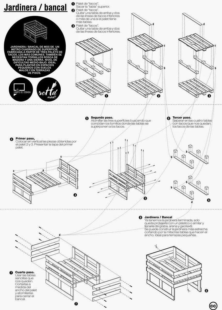 cmo construir muebles con palets utilizando estos esquemas