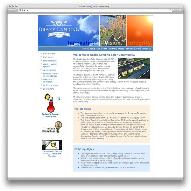 Drake Landing Solar Community   dlsc.ca   Portfolio Sample   MediaBox Communications Inc
