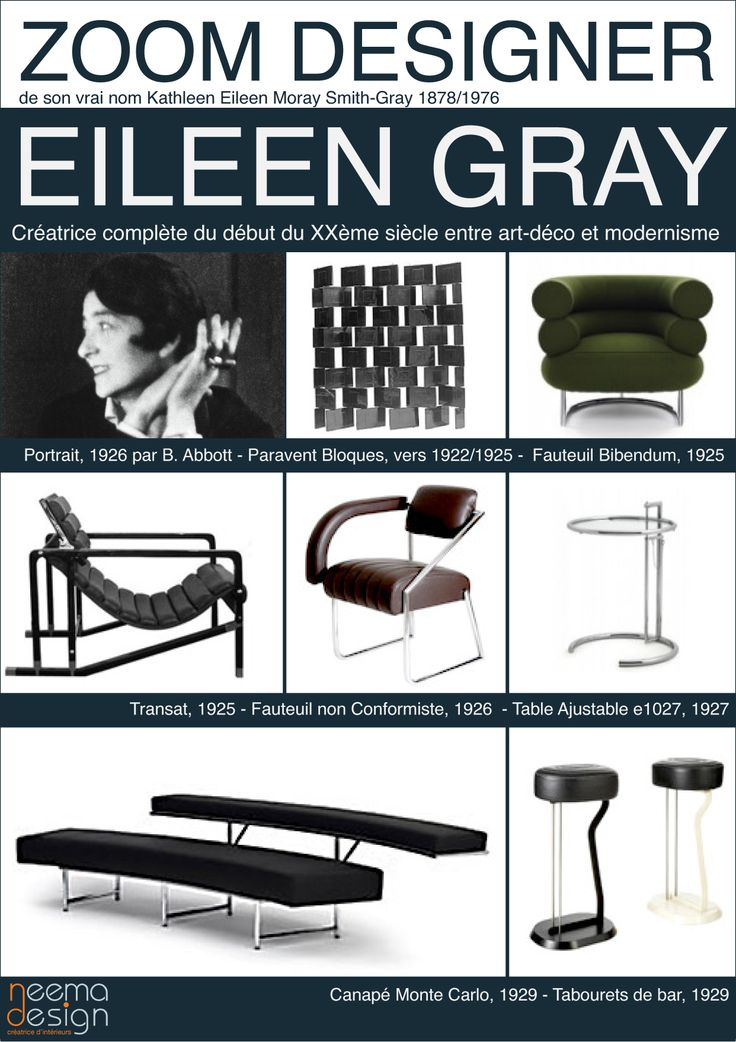 Eileen Gray - icons of the 20th Century