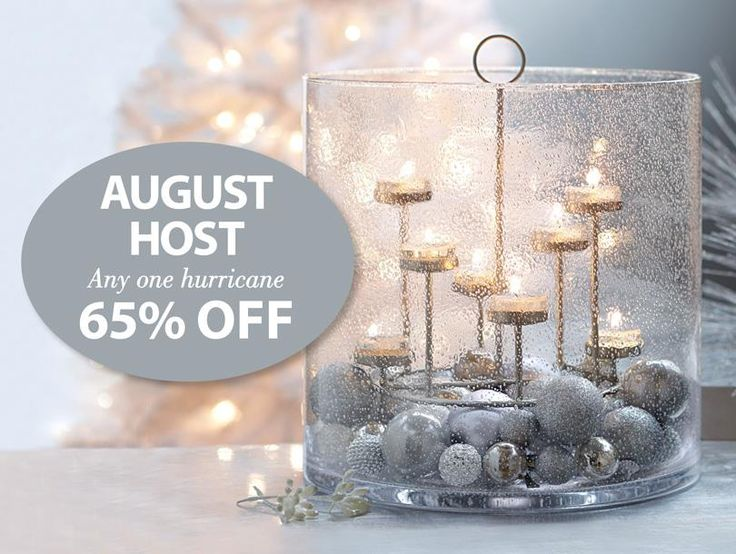 This is an extra offer for august host, incredible versatile Majestic Hearth Hurricane!  www.partylite.biz/candledivalissa