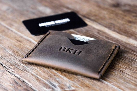 #Kickstarter #Minimalist #Wallet.  Durable and stylish, made by JooJoobs.com master leathersmith. Bookmark this gift for dads, grads, and better halves.