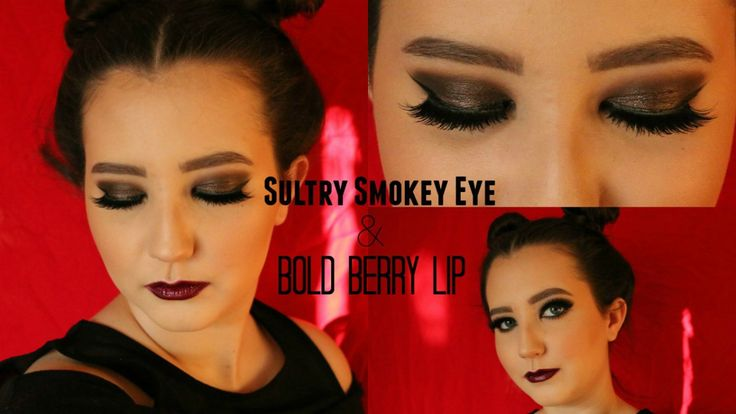 sultry smokey eye bold berry lip makeup tutorial