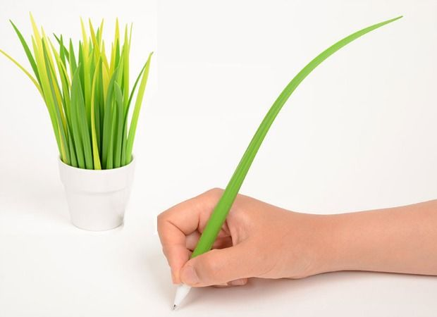 Pooleaf Plant Pens - Unique Office Supplies - Good Housekeeping