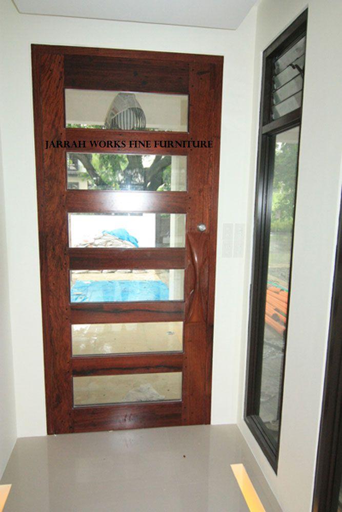 Ipil and Glass Panel Door
