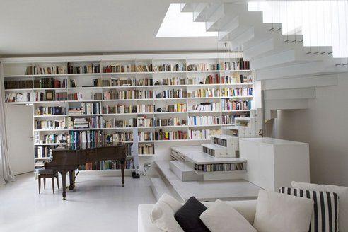 ...: Bookshelves, Dreams Libraries, Stairs, Abstract Activities, Paris France, Living Room, Interiors Design, Home Decor, Loft Design