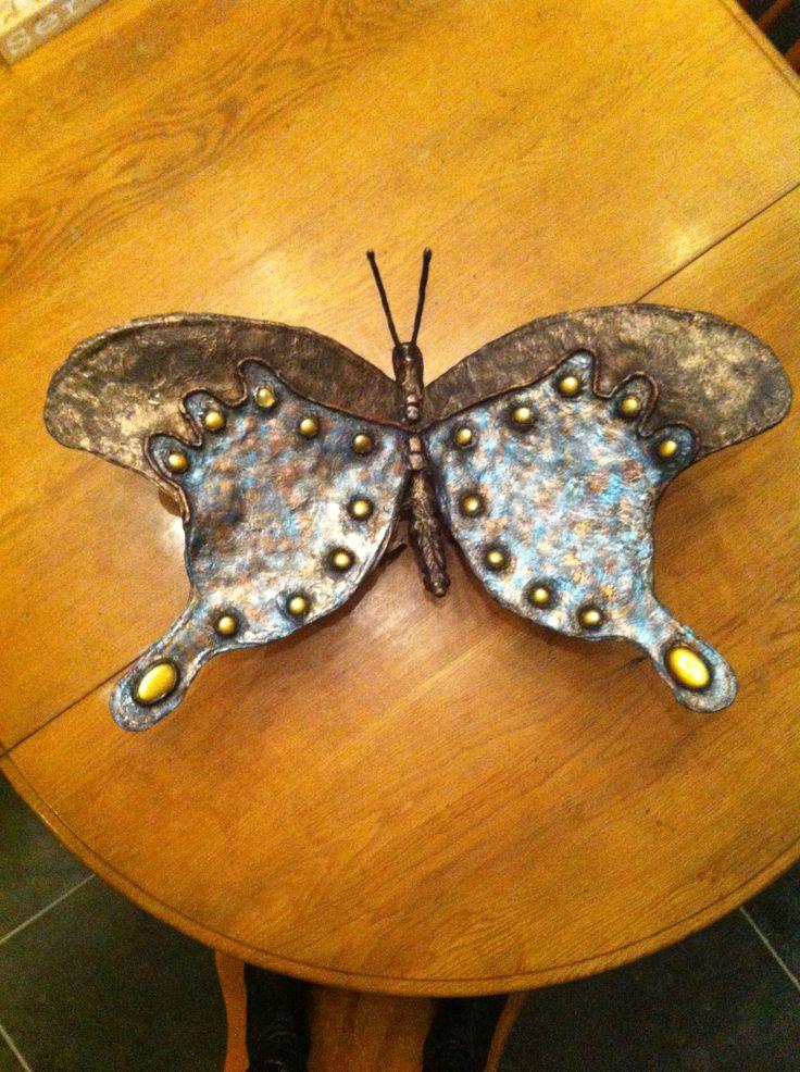 Vlinder van powertex