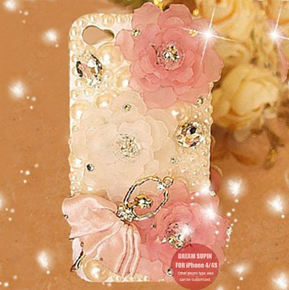 Ballet girl phone cover pearl phone case for iPhone4 by DreamSupin, $22.00... i need an iphone for this
