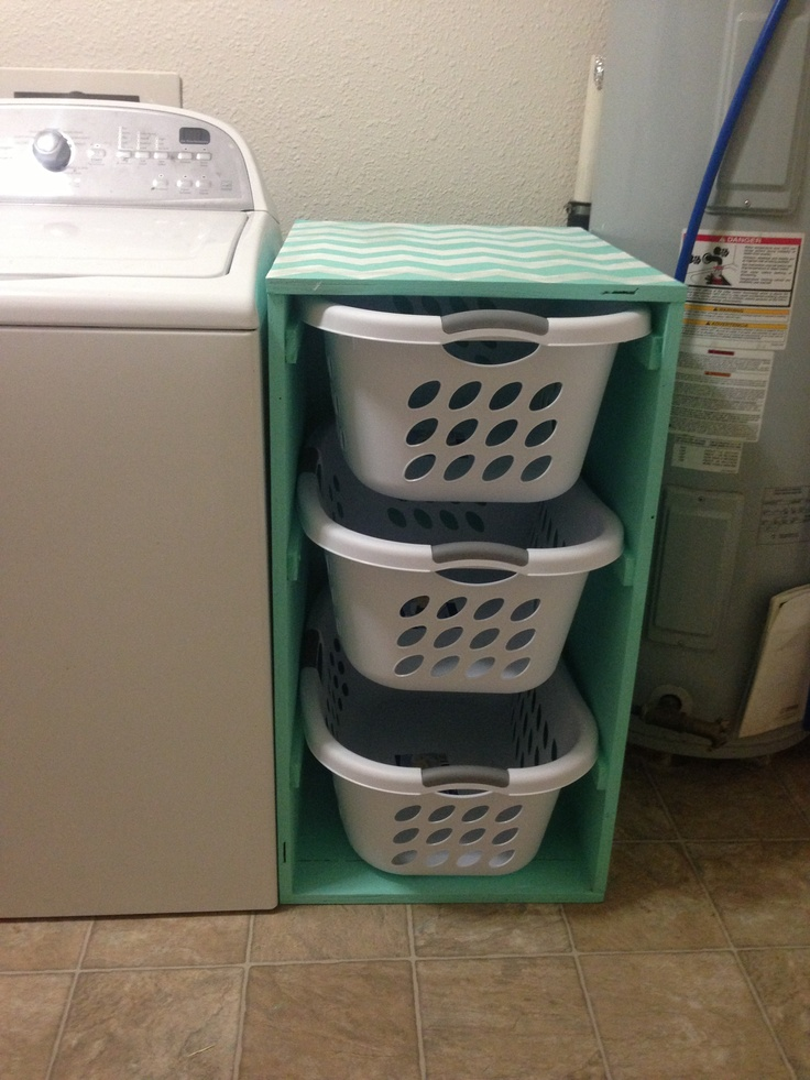 Diy Laundry Sorter With Chevron Pattern I Would Love To