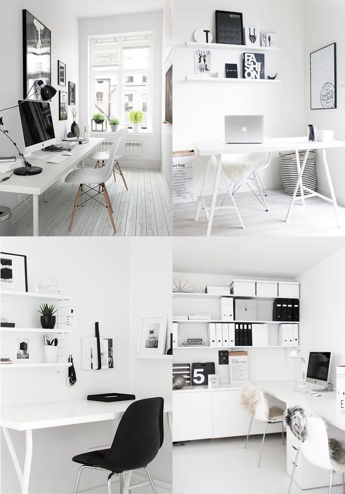 minimal white workspace interiors by voyage in design