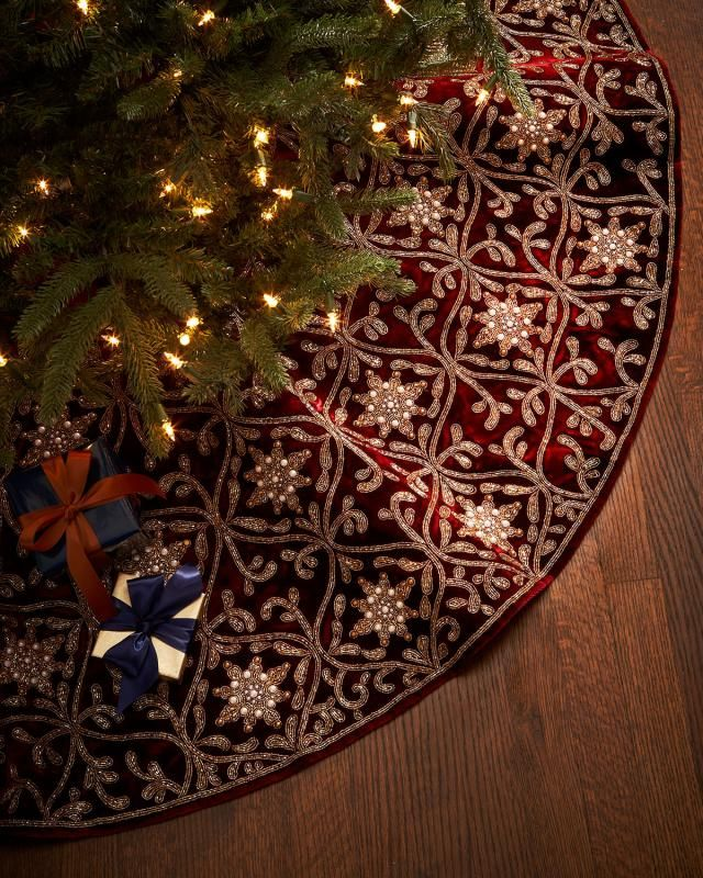 87 Best Christmas Tree Skirts Images On Pinterest Christmas Tree  - Red Velvet Christmas Tree Skirt