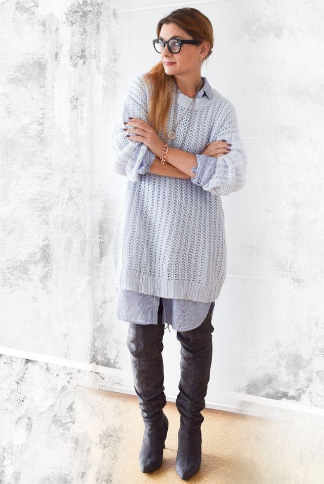 die EDELFABRIK   Blog für Mode und Beauty   Ü40 Blog   Kassel   Frankfurt   Hannover   : Wie style ich ein Hemdblusenkleid im Herbst - Outf...