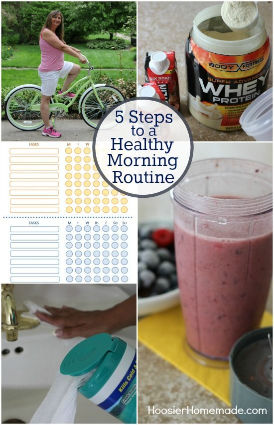 5 Steps to a Healthy Morning Routine | on HoosierHomemade.com