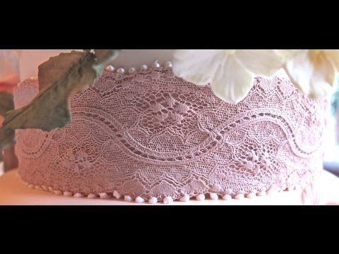 Karen Davies Cake Decorating moulds / molds. Free beginners tutorial / how to - Kristen lace border - YouTube
