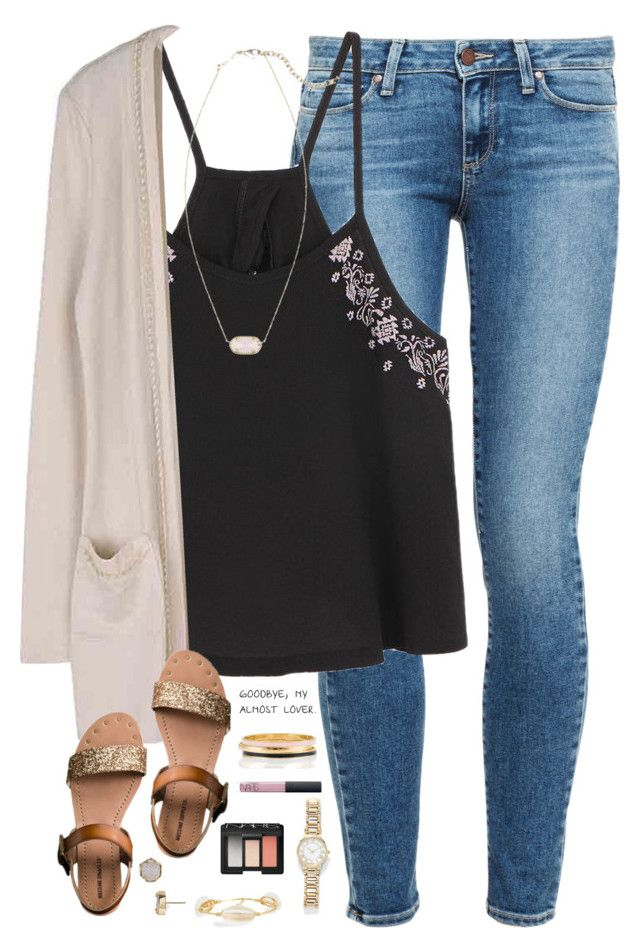 """I love you more and more everyday"" by kaley-ii ❤ liked on Polyvore featuring Paige Denim, Kendra Scott, Mossimo Supply Co., Bourbon and Boweties, Forever 21, NARS Cosmetics and Kate Spade. The necklace from www.myaccessorymall.com"