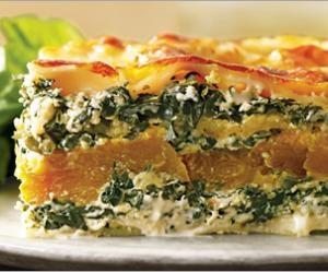 Butternut Squash Lasagna with Kale