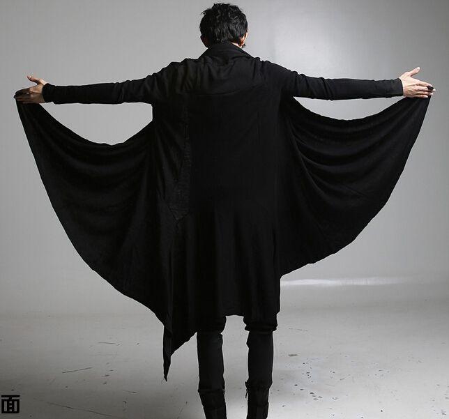 US $33.89 / шт. Примерно 940,18 грн. / шт.  2015 новые интересные панк готический футболки мужчины с длинным рукавом широкий черный цвет для хэллоуина костюмы купить на AliExpress