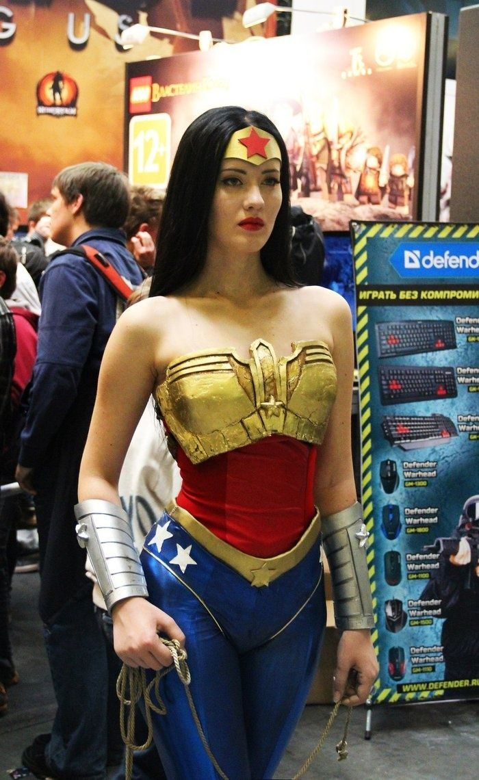 Not exactly political or anything, but I feel like Wonder Woman is very important to us as a female icon and this cosplay is strong and well done. Wish I knew her name!