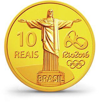 Moedas 10 Reais - Rio 2016 (verso)                                                                                                                                                     Mais