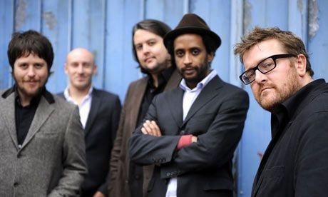 Elbow - And then Guy Garvey had to go and put on a pair of glasses. Damn it. Fine. I think he's handsome. There.