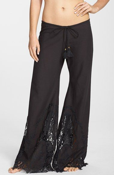 PILYQ 'Piper' Lace Lounge Pants available at #Nordstrom
