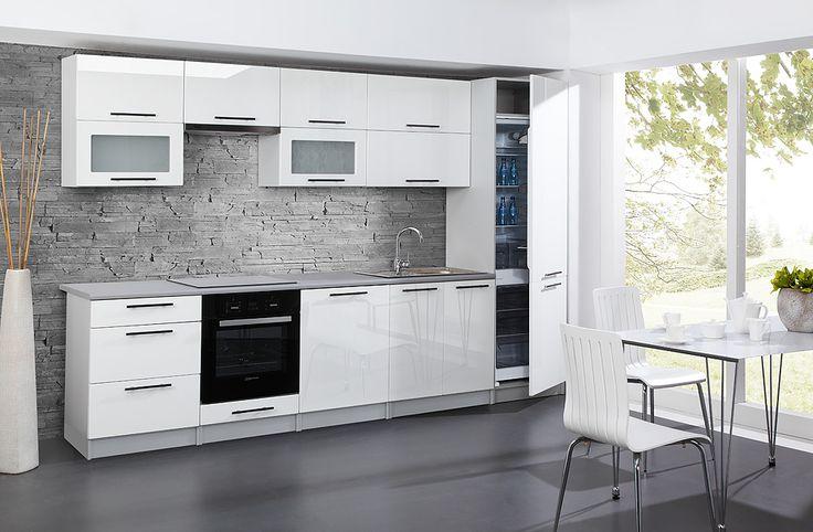 Angel - 260 cm-es blokk konyha.  Angyali konyha nem csak jókislányoknak! Minimalista és egyben elegáns megjelenés - ezt kapod, ha ezt a konyha szettet választod. http://www.knapp.hu/