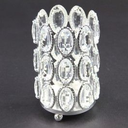 """3.93""""X5.11""""CANDLE HLDR SILVER"""