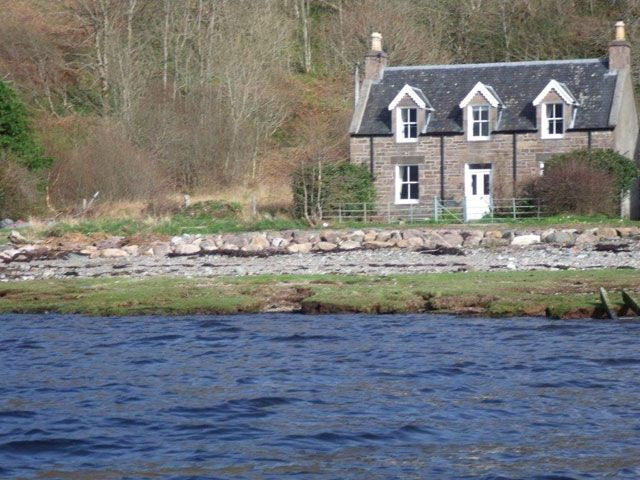 Gracie's Cottage from the sea