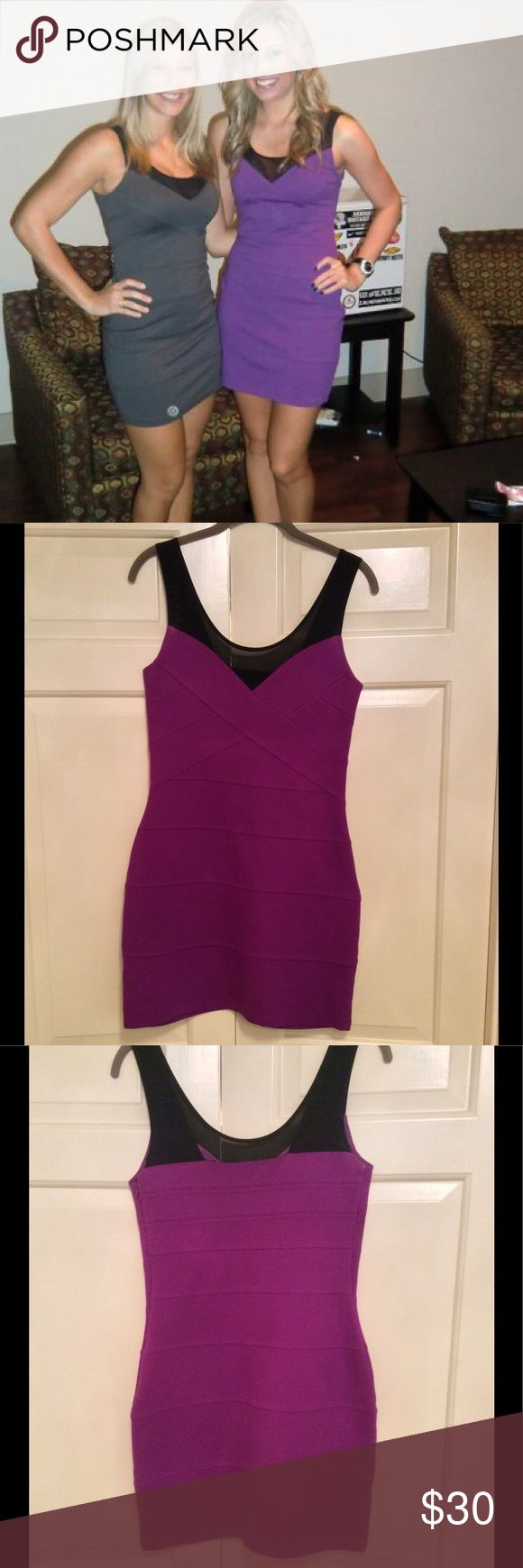 🇺🇸4th SALE🇺🇸 EXPRESS Purple Bandage Dress Sexy lil bandage dress from Express! Only worn twice & in excellent condition! The perfect outfit for a night out Express Dresses Mini