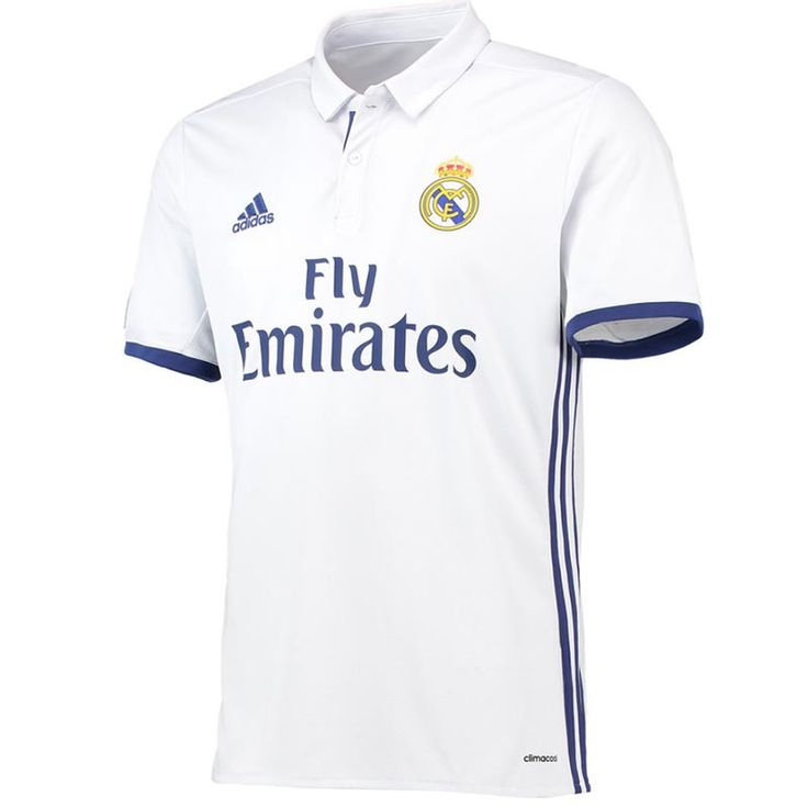 8fbd8b2a7 ... Home Replica Patch Long Sleeve Jersey - White Real Madrid Anthem Jacket  201617. Soccer ShirtsSoccer JerseysReal .
