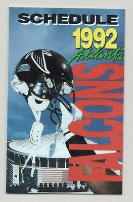 1992 Atlanta Falcons Football Schedule Kroger Coke