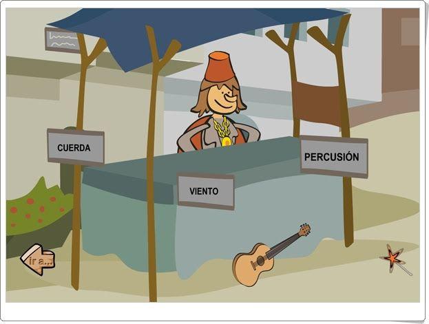 Grupos de instrumentos musicales (Primartis - Internet en el aula)