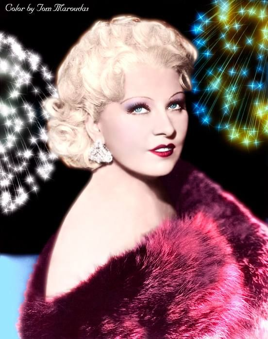 Mae West (c.1936) | Silver Screen Sirens Color | Pinterest | Photos and Mae west
