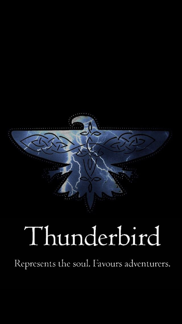 I just took the Pottermore quiz for the Ilvermorny houses... Thunderbird!