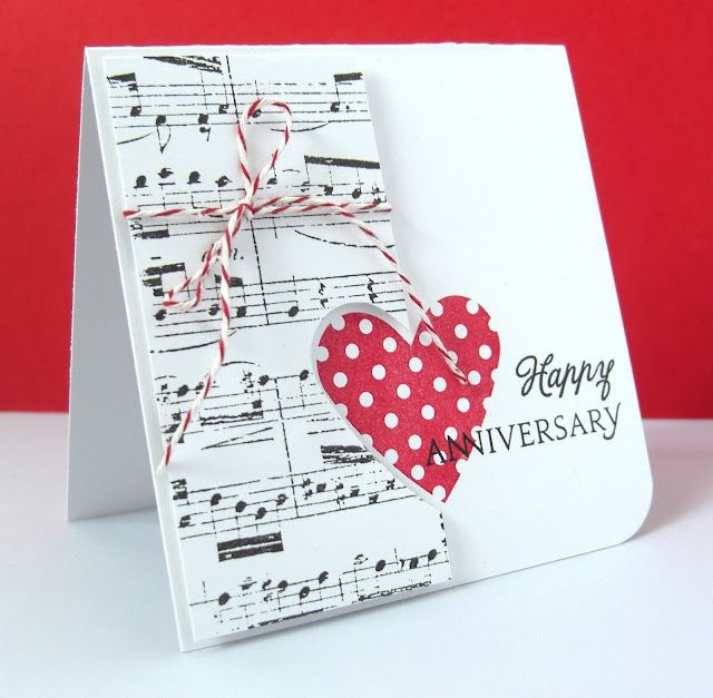 Heart Prints Anniversary Card