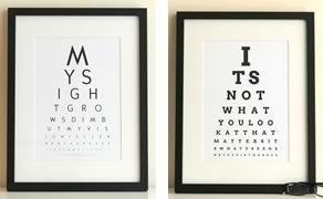 Eye Chart maker - custom text.  Just for fun!