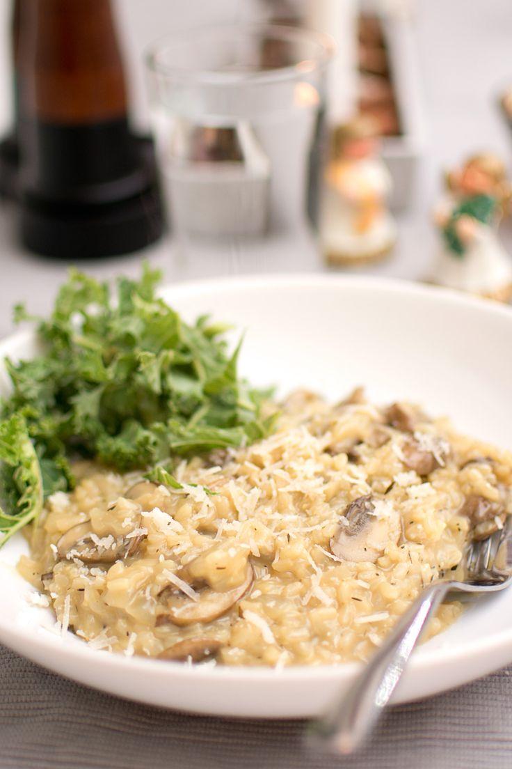 Risotto med svamp och parmesan