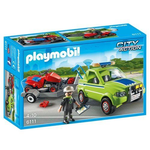 Playmobil - 6111 - Jardinier avec vhicule et tracteur tondeuse