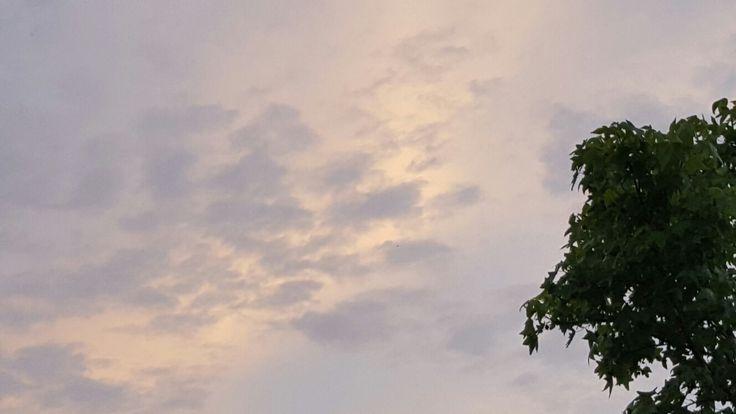 Avond lucht.