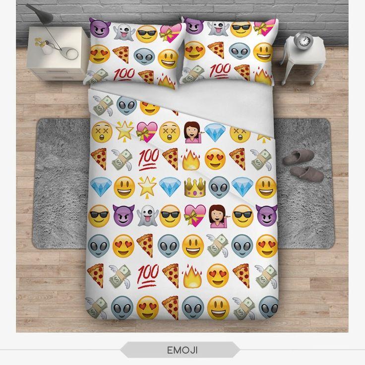 No.3 emoji white bedding set