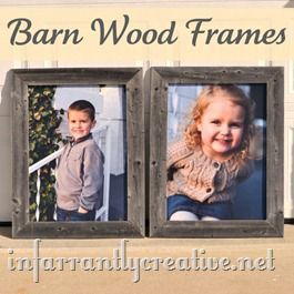 Barn wood frames made from old fence slats or pallets