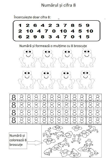 Lumea lui Scolarel...: Numărul și cifra 8