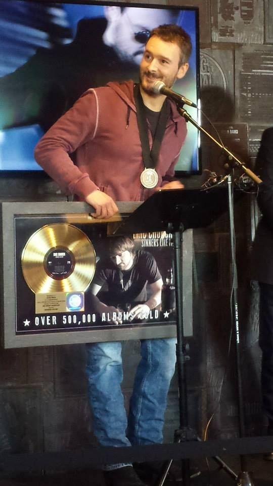 Eric Church Sinners Like Me Gold Album Press: