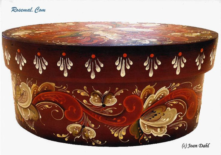 Oval Bowl Authentic Rosemaling Pattern fromTelemark. Created by Joan Dahl #SOB…