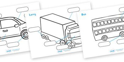 Twinkl Resources >> Transport Labelling Sheets