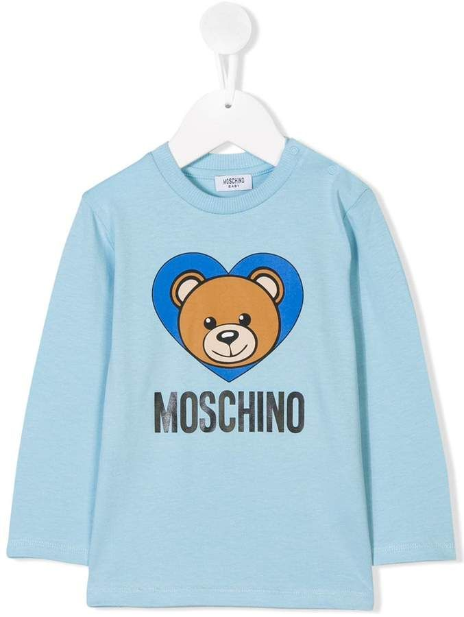 4c5f42bf Kids bear print longsleeved T-shirt #fun#cartoon#shapes | Children ...